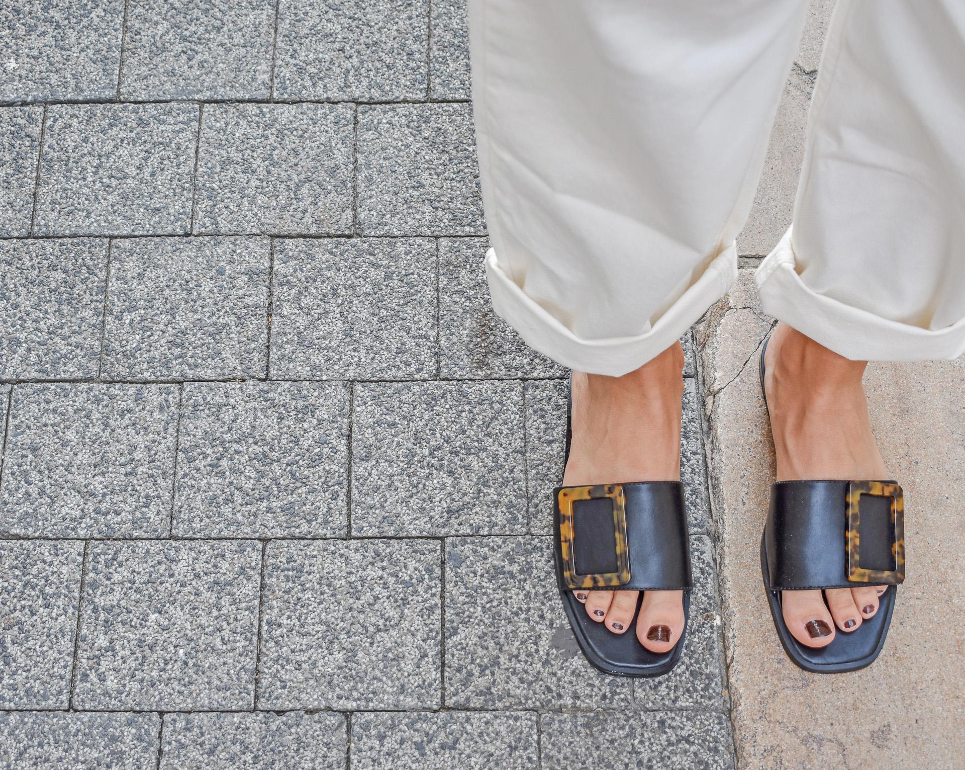 buckle sandals salopette blanche jean denim dungaree NAKD