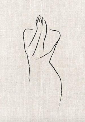 déco poster desenio sketch femme croquis dessin