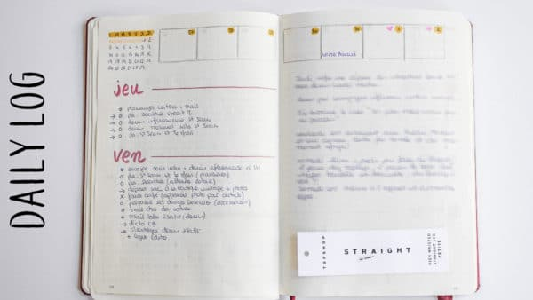 daily log bullet journal planner