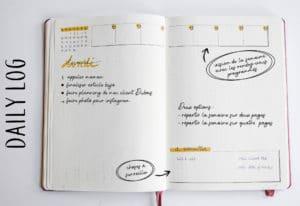 daily log bullet journal planner