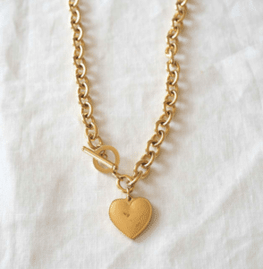 collier gros maillons coeur only trend acier inoxydable