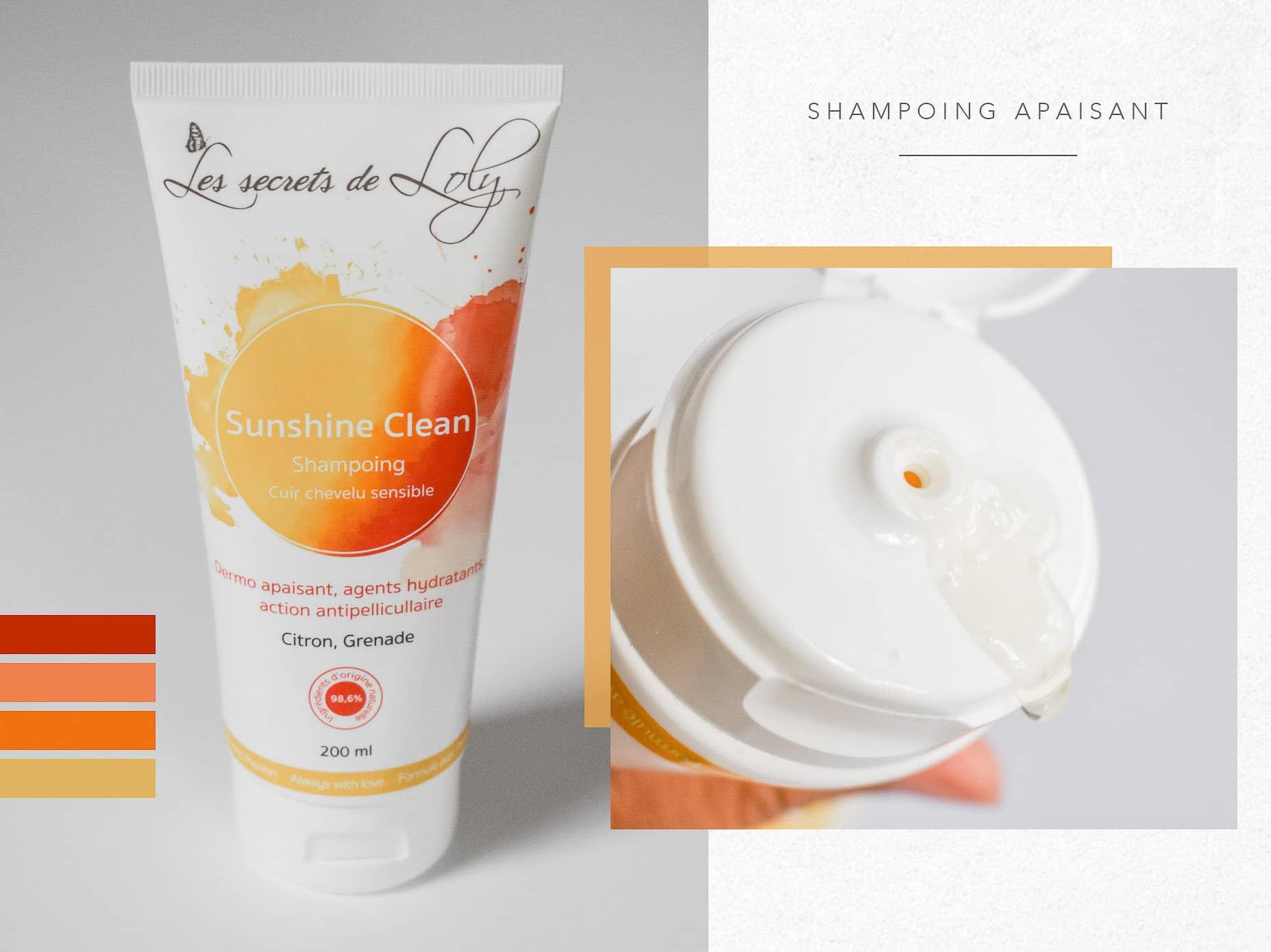 shampoing sunshine clean les secrets de loly curly hair routine cheveux bouclés routine naturelle