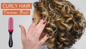 cheveux bouclés définir avec la denman brush